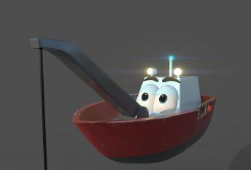 Mila Kuussaaren tekemä kilpailutyö, jossa animaatiokuva jäänmurtajasta.